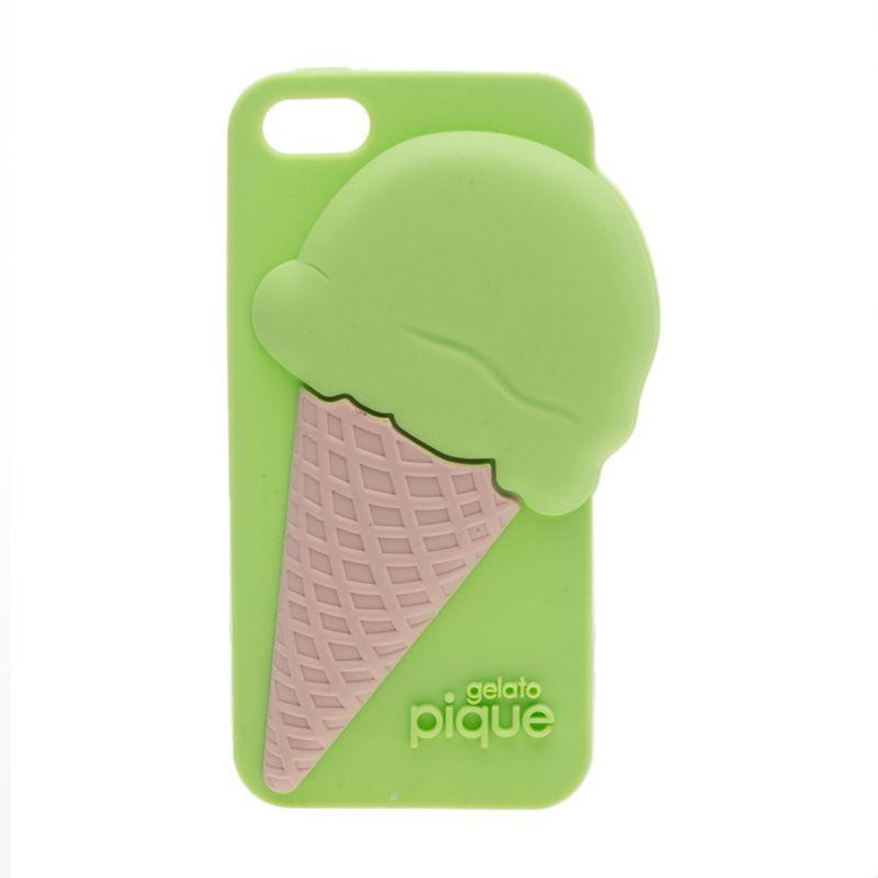 Pique Ice Cream Rose Gelato Ice Cream Green Casing for Iphone 5 or 5s