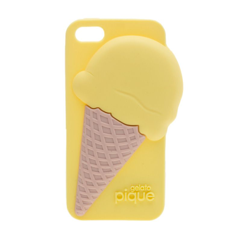 Pique Ice Cream Rose Gelato Ice Cream Yellow Casing for Iphone 5 or 5s
