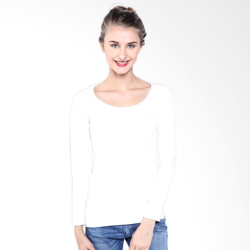 Lee Cooper Knit Ls Coup A3UCP310104G White Kaos Wanita