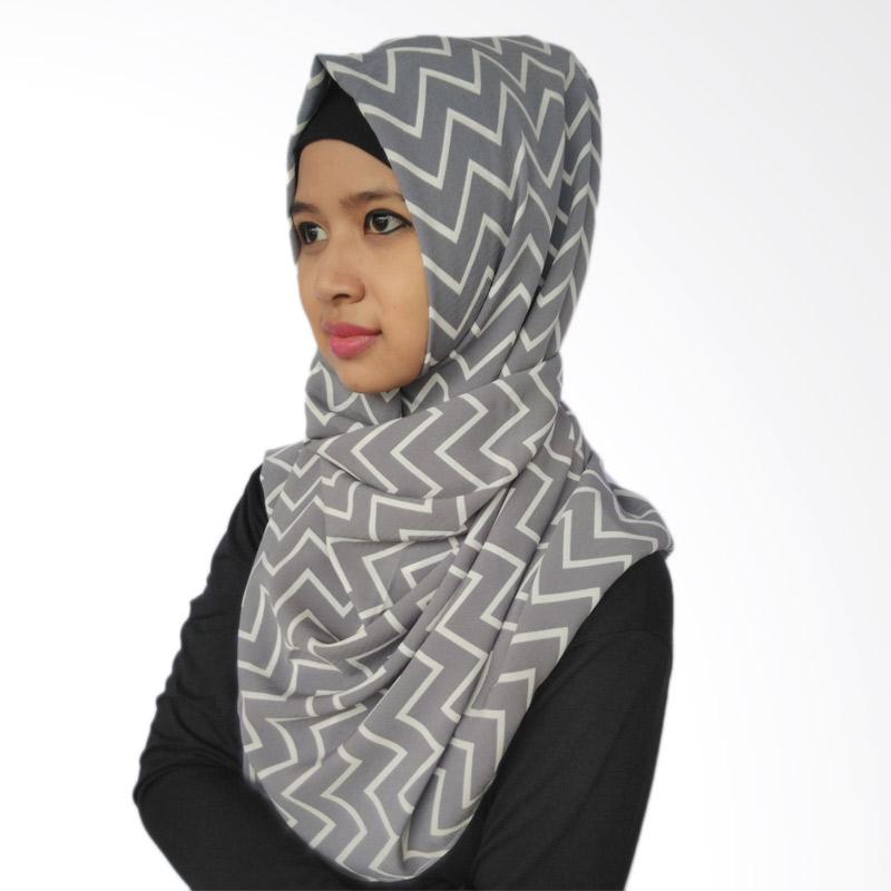 LeeCuini Pasmina Lee Zigzag Hijab - Grey
