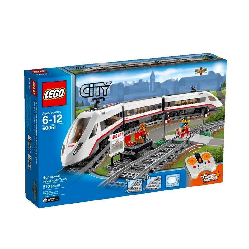 harga LEGO City High-Speed Passenger Train 60051 Mainan Blok & Puzzle Blibli.com