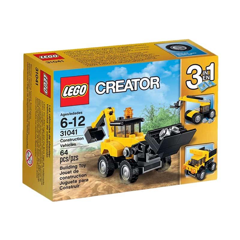 LEGO Creator 31041 Construction Vehicles Mainan Anak