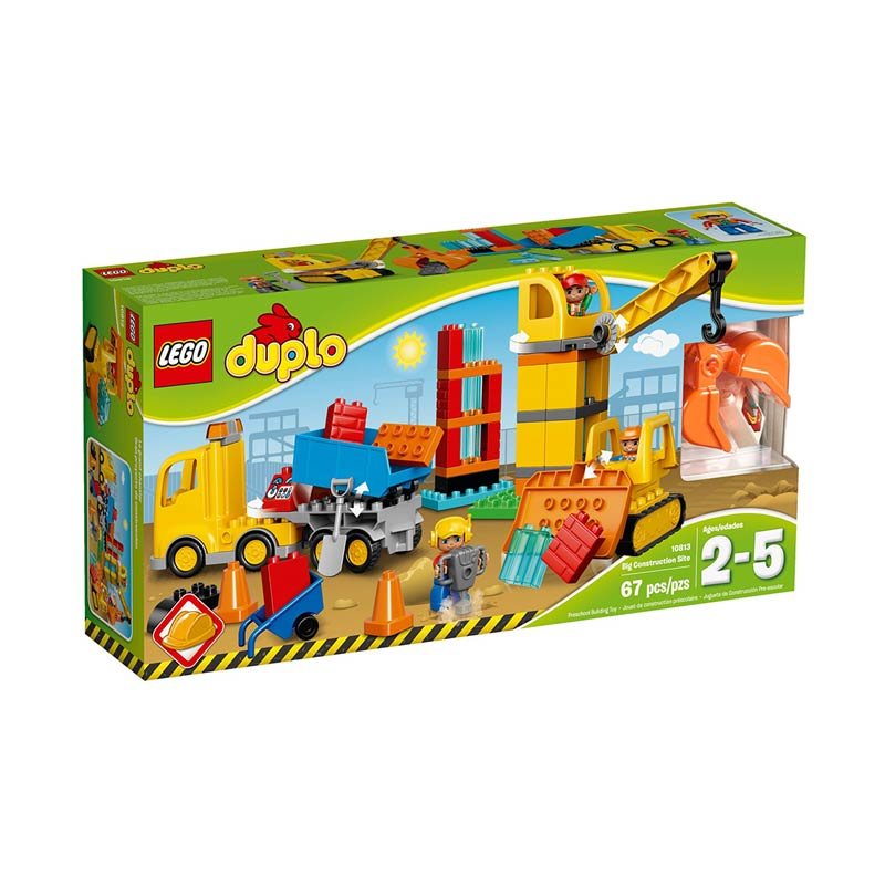 Lego Duplo 10813 Big Construction Site Mainan Anak