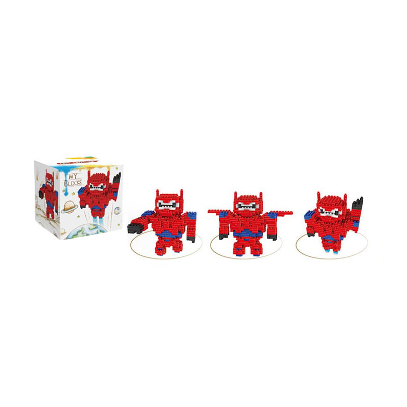Lele Brother 6193 Baymax Armor Mainan Blok & Puzzle - Red