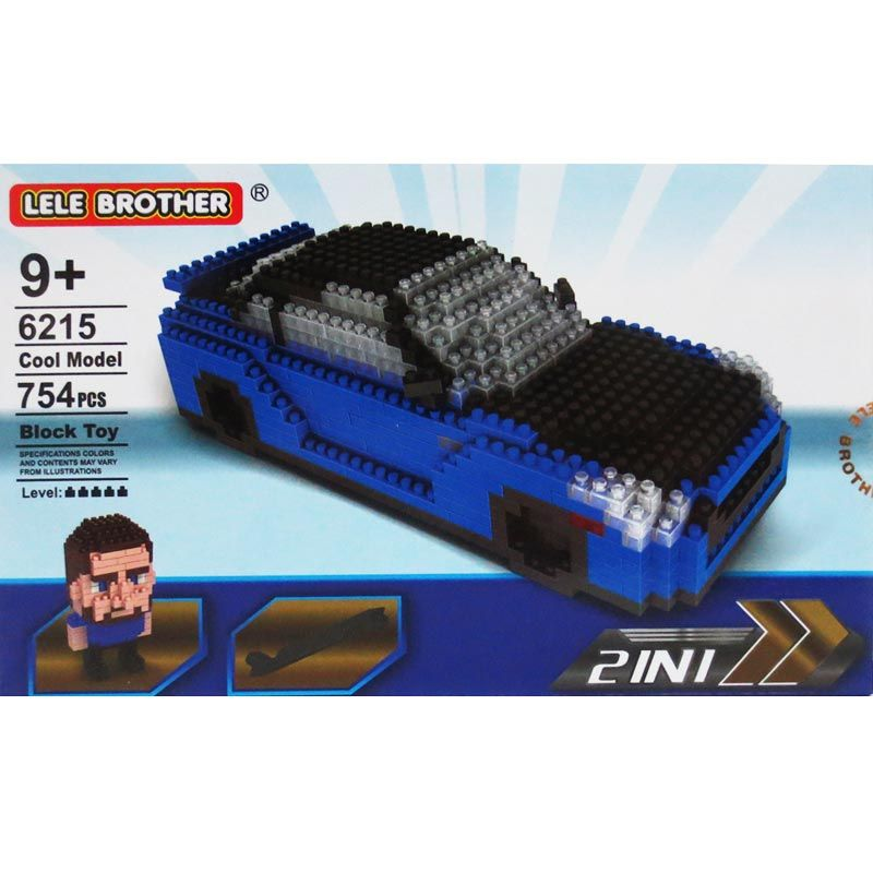 Lele Brother 6215 Car 2In1 Mainan Blok dan Puzzle