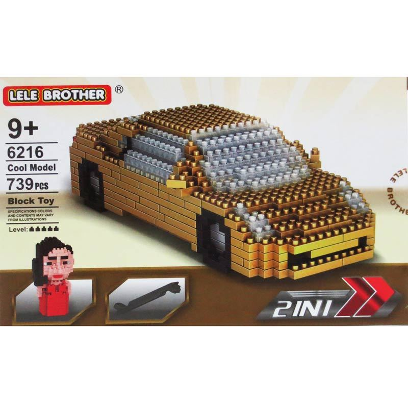 Lele Brother 6216 Car 2In1 Mainan Blok dan Puzzle