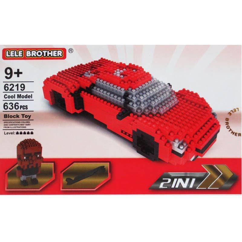 Lele Brother 6219 Car 2In1 Mainan Blok dan Puzzle