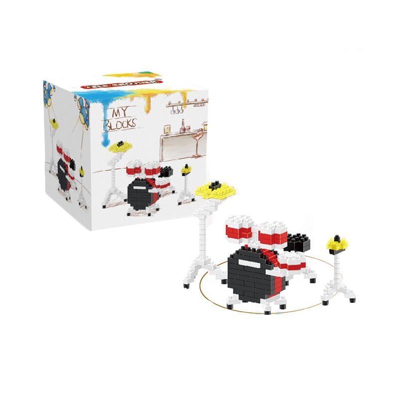 Lele Brother 8155 Set Drum Mainan Blok dan Puzzle