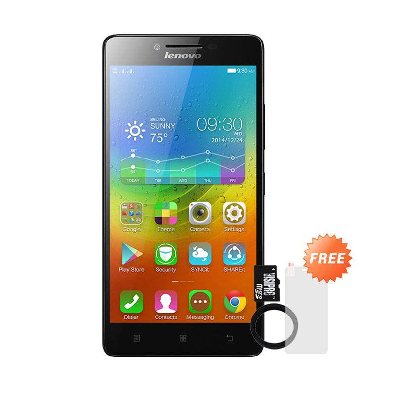 harga Lenovo A6000plus Hitam Smartphone + Powerbank Advance 3200 mAh + MicroSDHC 8Gb Visipro Class6 + Jellycase + Screenguard-Black Blibli.com