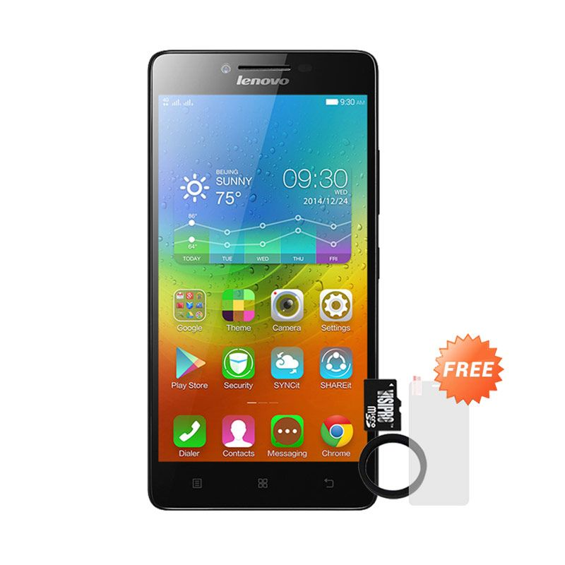 harga Lenovo A6000 Hitam + Powerbank Advance 3200 mAh + MicroSDHC 8 Gb Visipro Class 6 + Jellycase + Screenguard Black Blibli.com