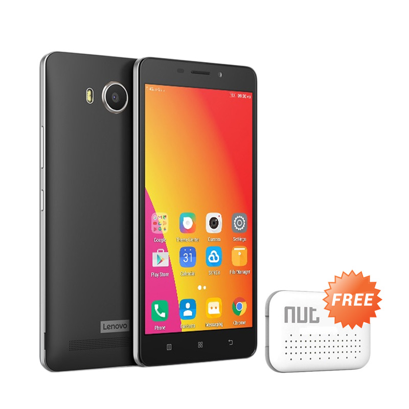 BCA - Lenovo A7700 Smartphone - Black [16 GB/2 GB] + Free Nut Mini Tracker + Leather Flipcover + Voucher MOL Point