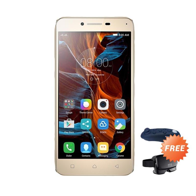Preorder Regular - Lenovo Vibe K5 Plus Smartphone [3 GB/16 GB] - Gold + Free VR Glasses Kit + Controller (Virtual Reality)