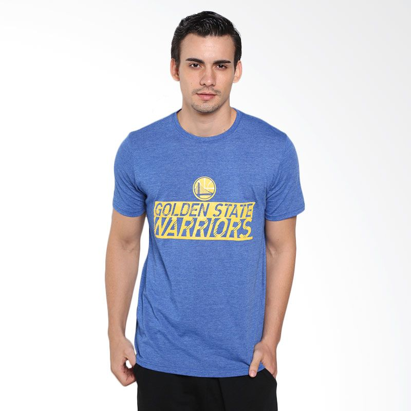 Levelwear NBA Golden State Warriors Biru Kaos Basket Pria (NT50L-Warriors)