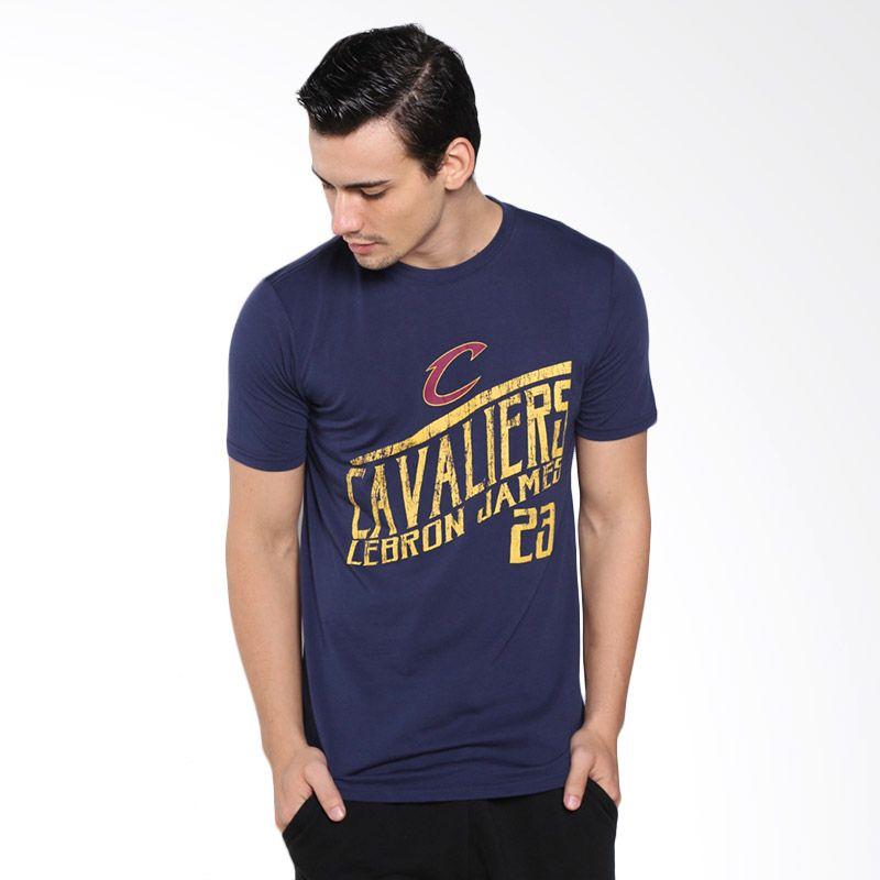 Levelwear NBA Cleveland Cavaliers LeBron James Biru Kaos Basket Pria (NT50L-Lebron James)