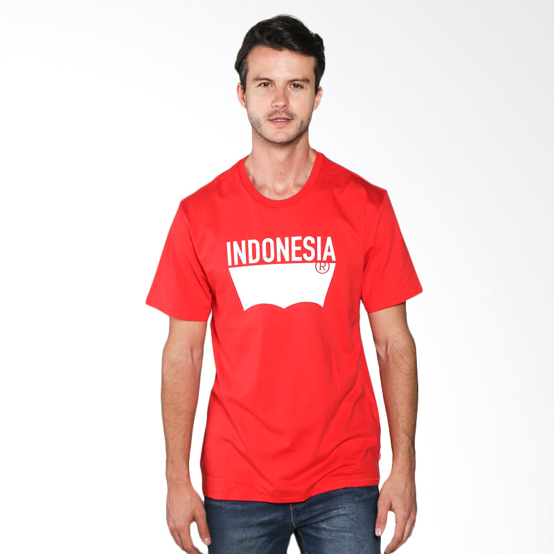 Levi's Destination Tee Indonesia Red Pantone 186C 21945-0180 Kaos Pria Extra diskon 7% setiap hari Extra diskon 5% setiap hari Citibank – lebih hemat 10%