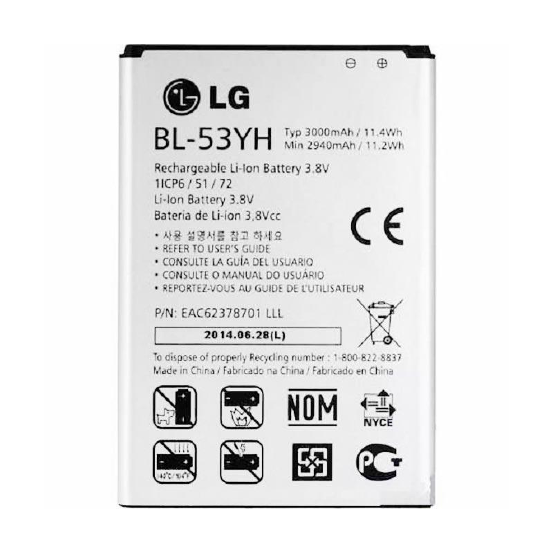 LG Batery Original G3 BL-53YH Baterai [3000 mAh]