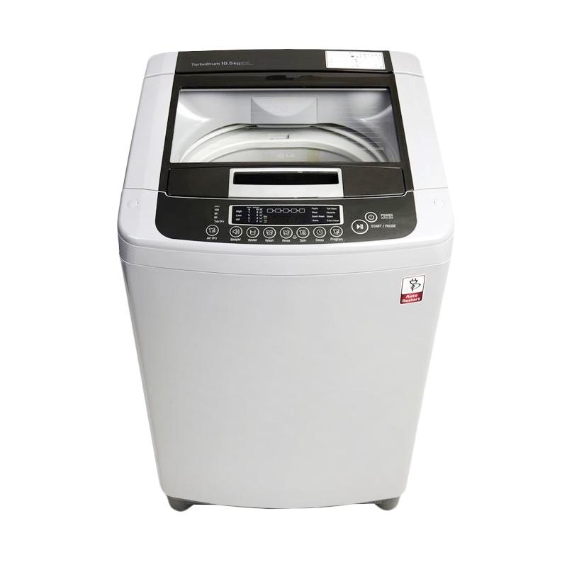 LG TS81VM Mesin Cuci - Putih [Top Loading/8 kg/Free Ongkir Jabodetabek]