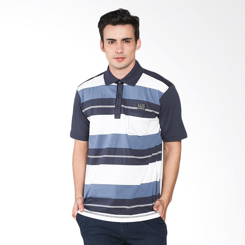 LGS CTS.224.M1940.01.C Men Regular Fit Stripe Polo Shirt - Biru Extra diskon 7% setiap hari Extra diskon 5% setiap hari Citibank – lebih hemat 10%