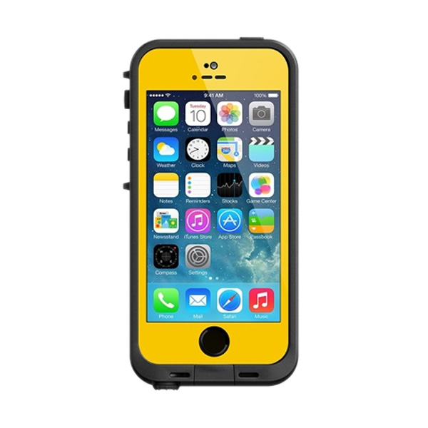 LifeProof Fre Casing for iPhone 5 or iPhone 5s - Yellow Black