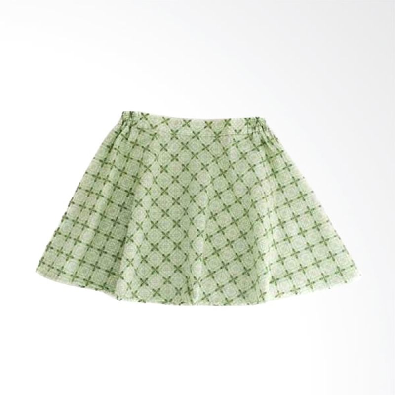 LilFireflies Green Batik Rok Anak Perempuan