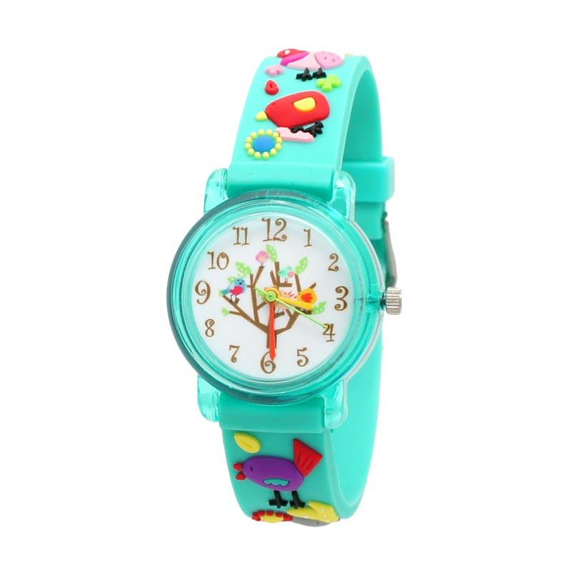 Linkgraphix Playhour KT21 Birdy Green Jam Tangan Anak