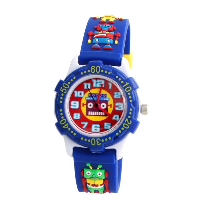 Linkgraphix Playhour KTS07 Robot Blue Jam Tangan Anak