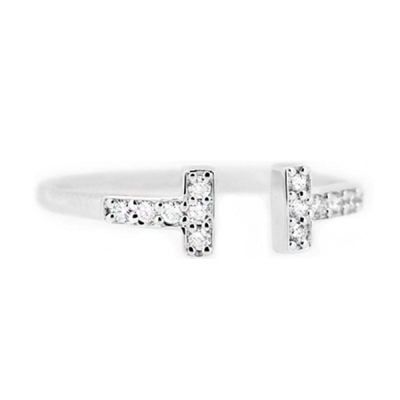 LINO CC1505047A Berlian Emas Putih Cincin [18 K]