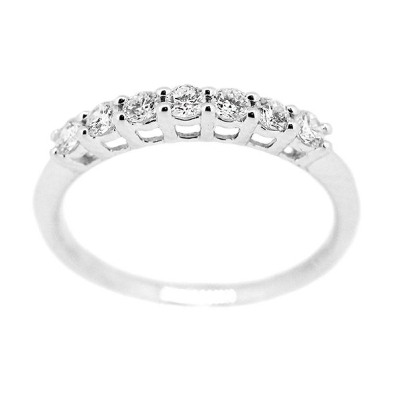 LINO CC1505119A Berlian Emas Putih Cincin [18 K]