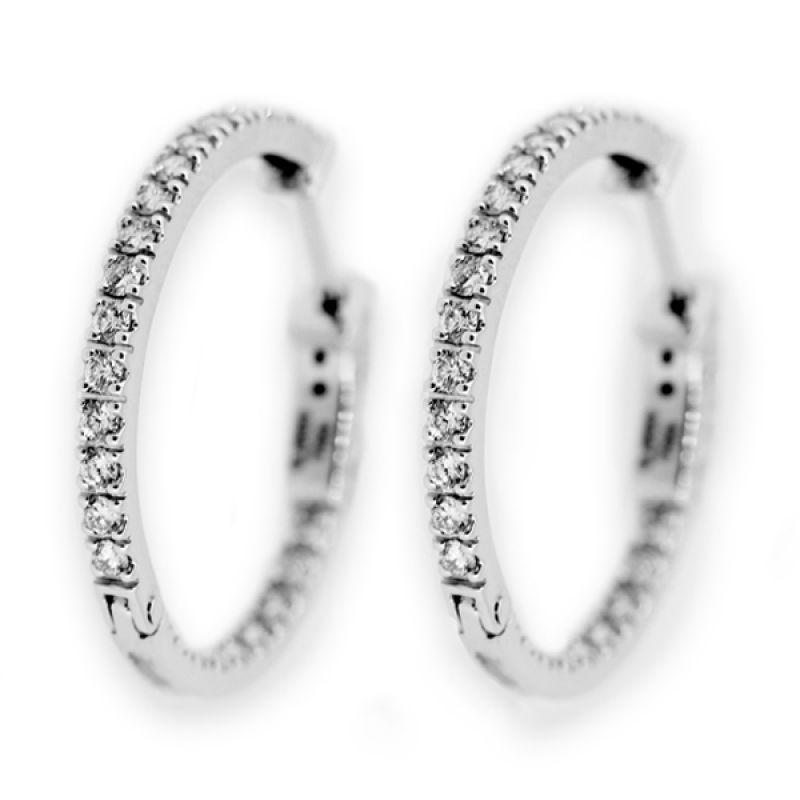 LINO Berlian Emas Putih AT1412014A Anting [18 K]