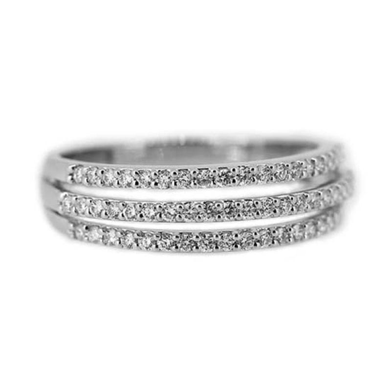 LINO Berlian Emas Putih CC1410054A Cincin [18 K]