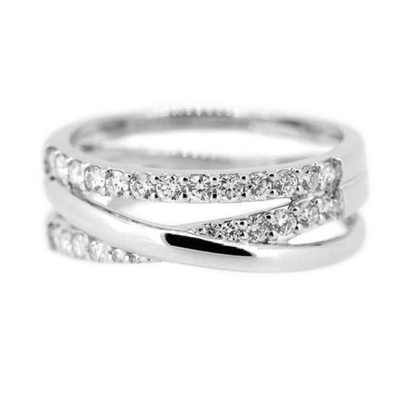 LINO Berlian Emas Putih CC1501019A Cincin [18 K]