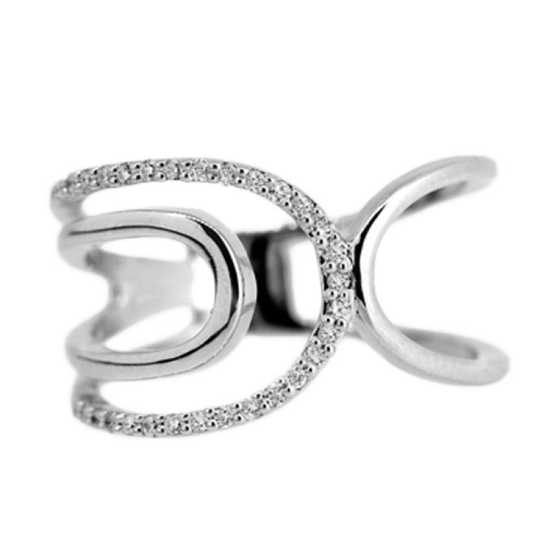LINO Berlian Emas Putih CC1503120A Cincin [18 K]