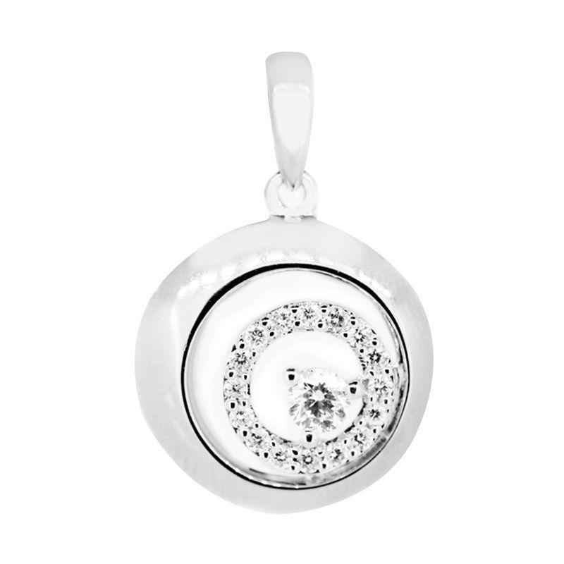 Lino LT1505057B Berlian Emas Putih Liontin [18 K]