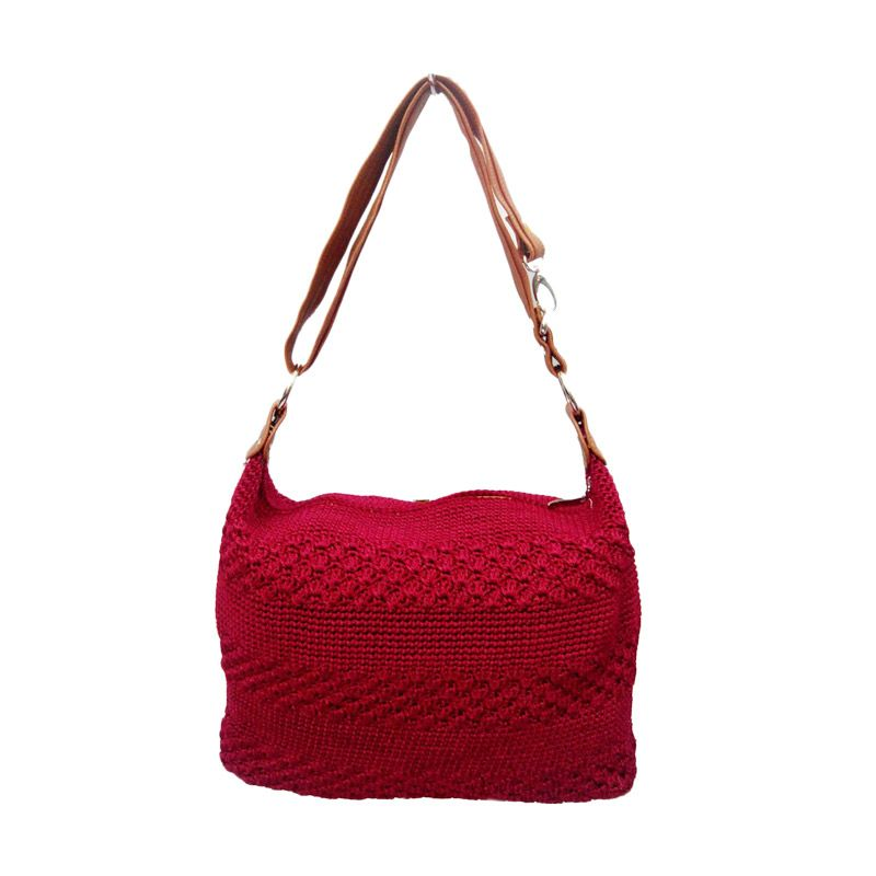 Jual LIN S Craft Rajut Cendy Marun Sling Bag Tas Selempang Online ... 8446becfba