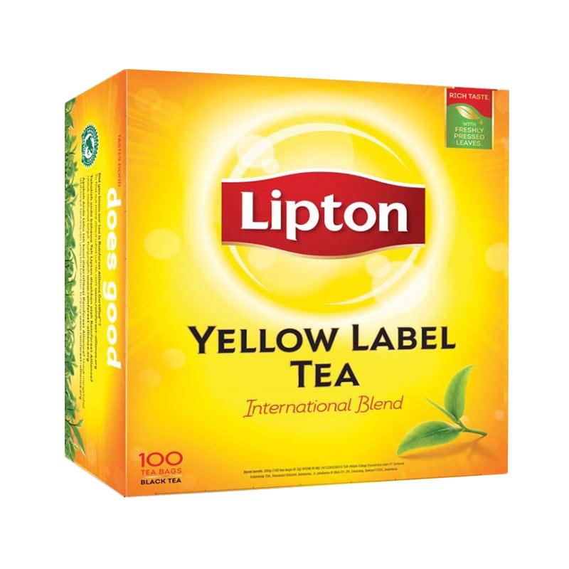 Jual Lipton Yellow Label 100 Tea Bag Non Envelope Online
