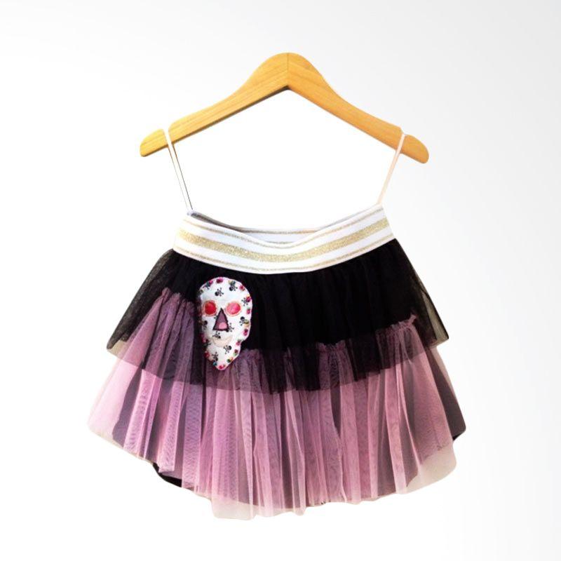Little Heirloom Ballerina Skirt Pink Black Skull