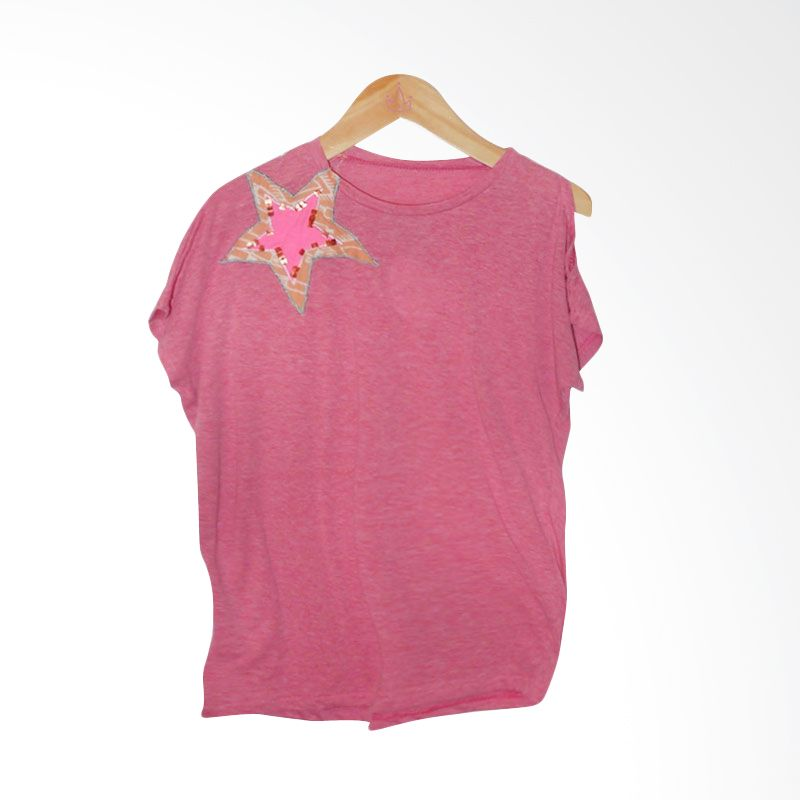 Little Heirloom Cathy Cut Out Pink Shirt