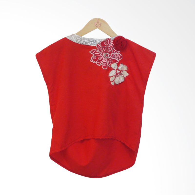 Little Heirloom Lindsay Red Blouse