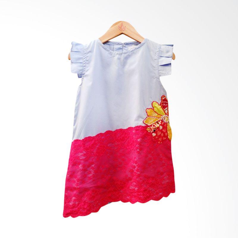 Little Heirloom Pamela Dress Lace Blue
