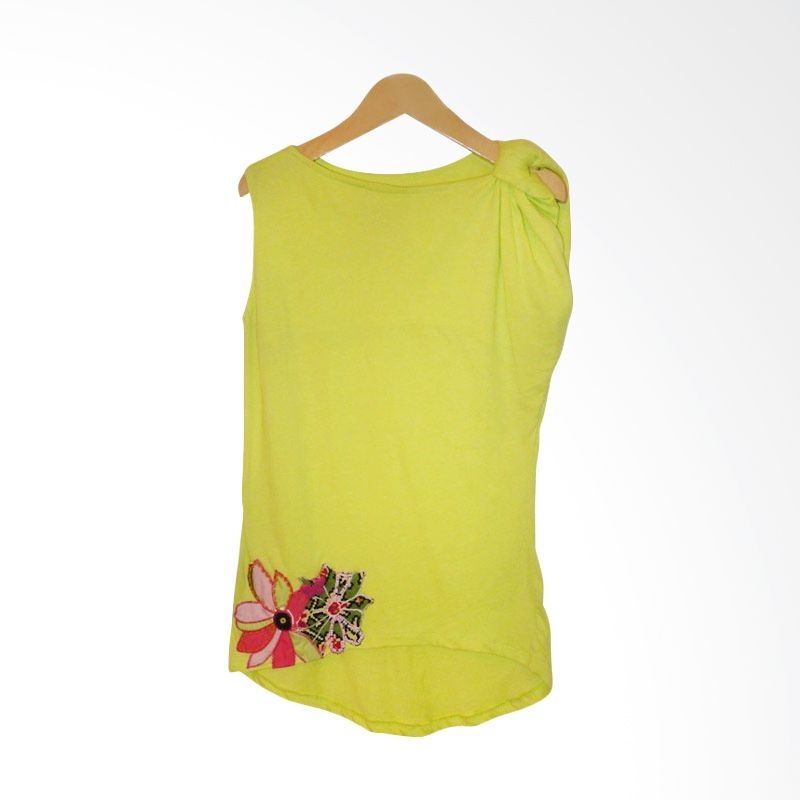 Little Heirloom Poppy Neon Green Dress