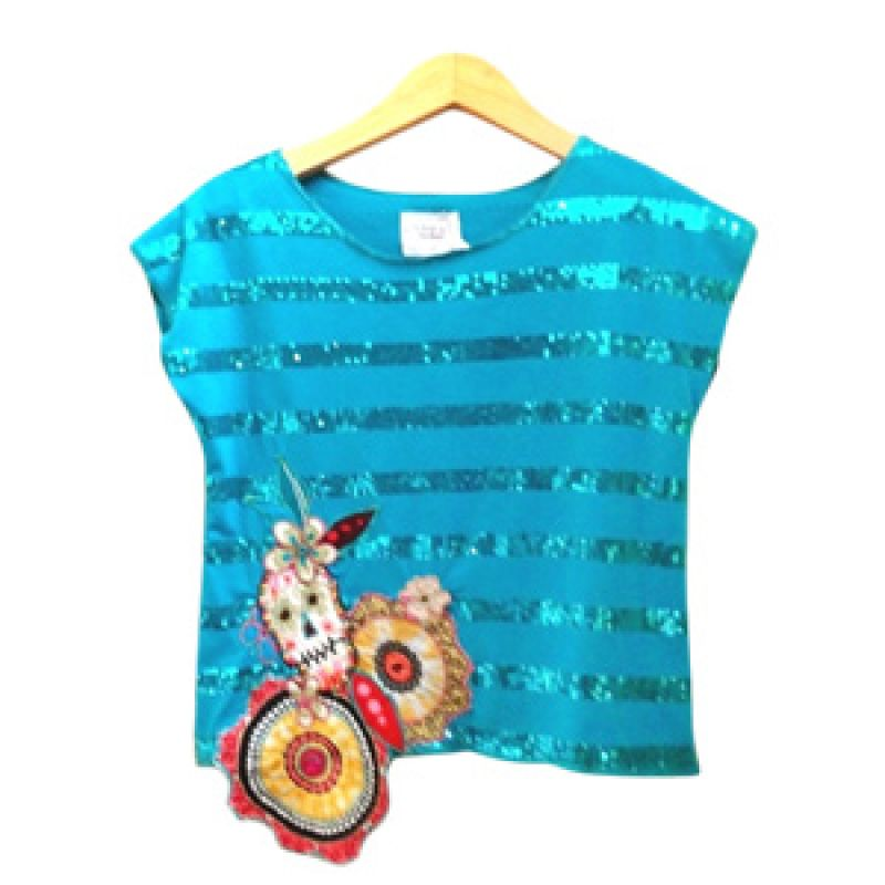 Little Heirloom Teresa Tee Sparkly Tosca