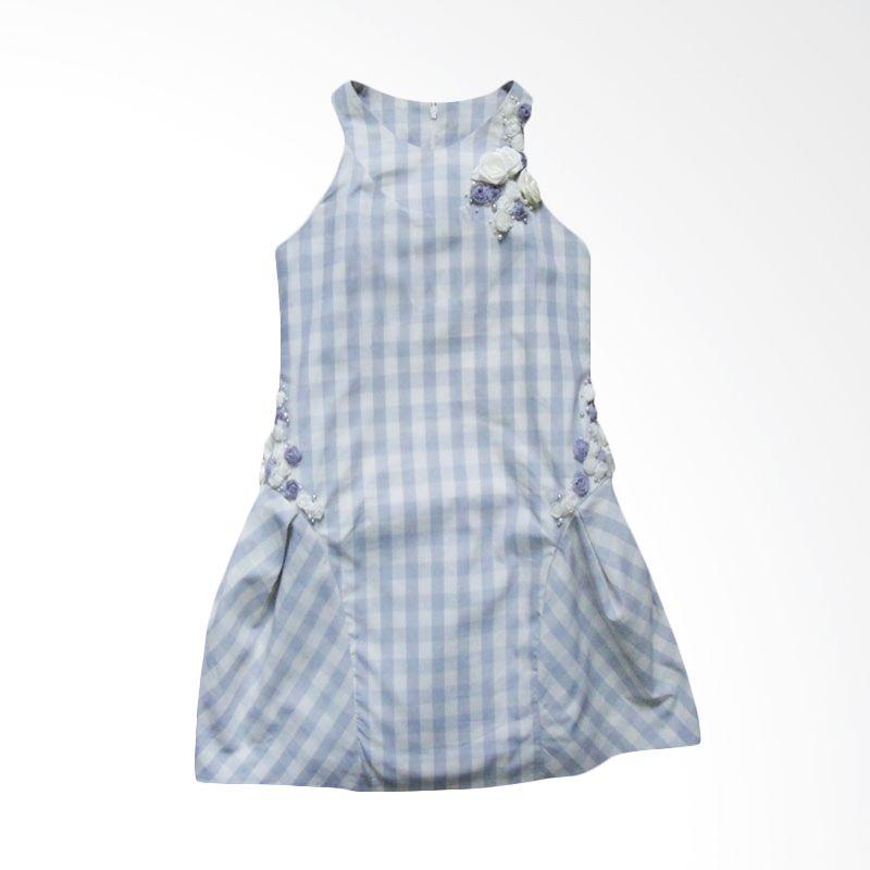Little Litta Dress Checkered Grayish Blue