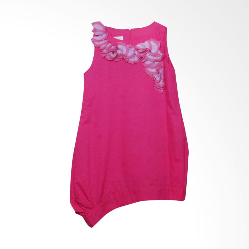 Little Litta Dress Ruffles Shocking Pink