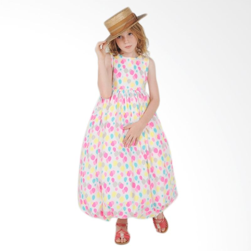 Little Superstar Celine Baloon Maxy Colorfull Dress Anak