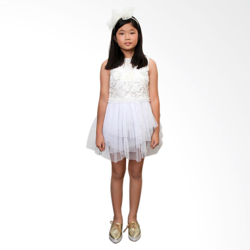 Little Superstar Gisella White Dress Anak