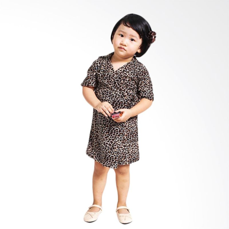 Little Superstar Lira Kimono Dress Leopard