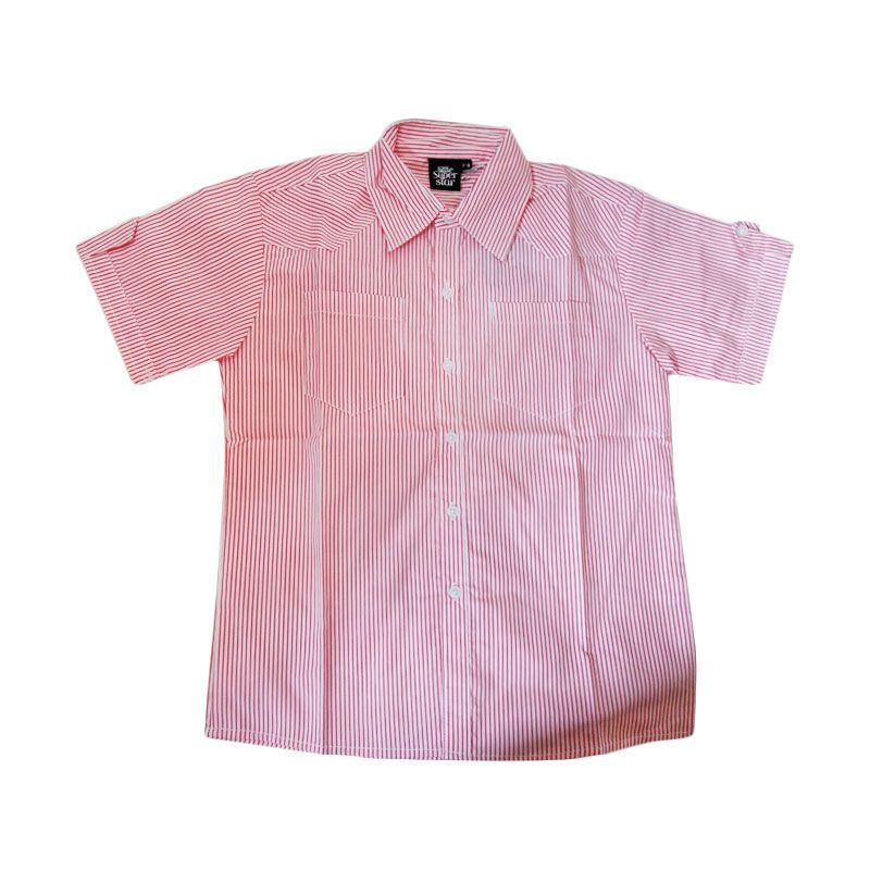 Little Superstar Mark Shirt Red Line Atasan Anak Laki-Laki