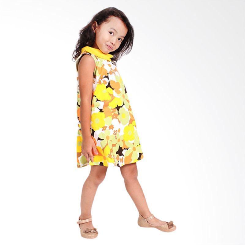 Little Superstar Retro Flower Yellow Dress Yellow