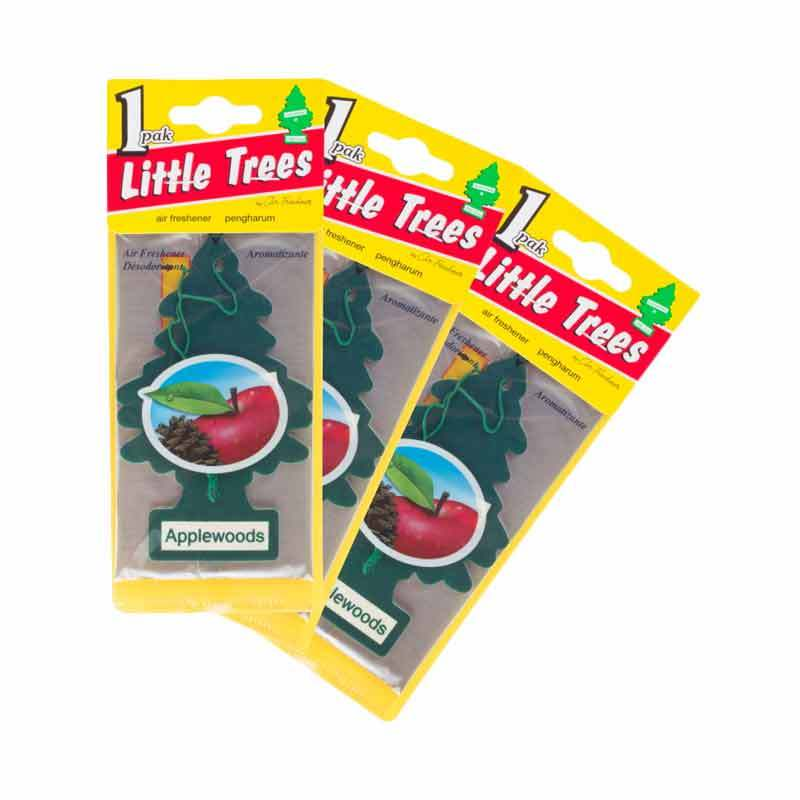Little Tree Hanging Aroma Apple Woods 3 Pcs