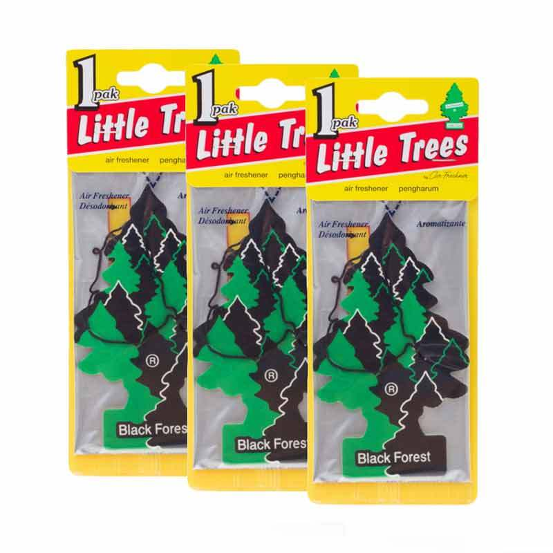 Little Tree Hanging Aroma Black Forrest 3 Pcs